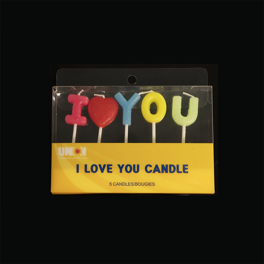 Word Candle (I Love You)
